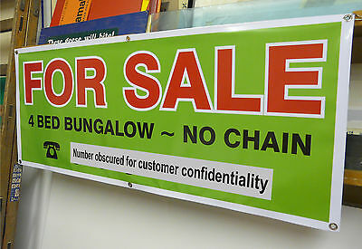 House or Land For Sale or To Let Quality Outdoor Banner 1530x570mm