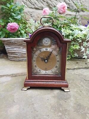 A small mahogany 8day bracket clock by Elliott - Restored case movement serviced