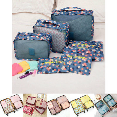 10Pcs Luggage Organizer Pouch Packing Cube Travel Clothes Storage Bag Waterproof