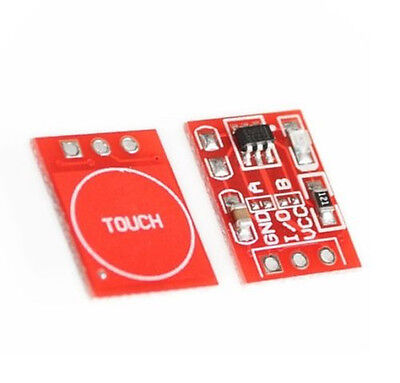 2PCS TTP223 Capacitance Capacitive Touch Switch Button Self-Lock Module