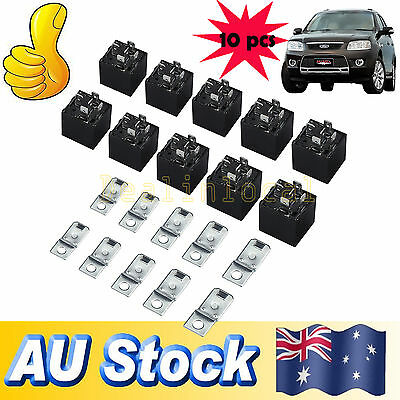 10pcs Car Vehicle Auto 12V Volt 40A 40 AMP SPDT Relay 5Pin 5P AU Stock