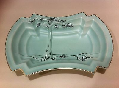 """Vintage 1950s? Crown Ducal A.G.R Art Deco style Dish.Exc cond.#18 """"Tree of Life"""""""