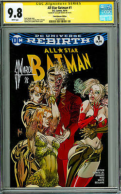 All Star Batman #1 CGC 9.8 SS ComicXposure variant signed by Guillem March