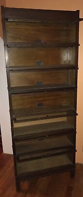 Globe Wernicke Seven 7 Section Bookcase Library Art Mission