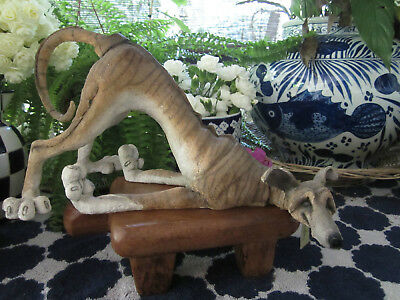 A Breed Apart Country Artist Statue ' Flounder' Brindle Greyhound