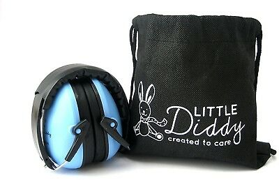 Little Diddy Kids Ear Defenders-Carry Bag Included Colour Blue Durable New
