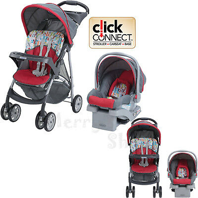 Baby Stroller Car Seat Click Connect Travel System Kids Girls Boys Unisex