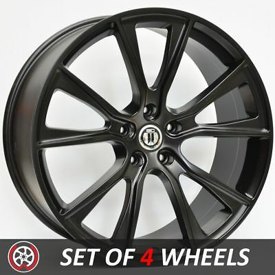 22 Inch CONVEX Wheels Rims to fit Jeep Grand Cherokee and SRT Models Satin Black
