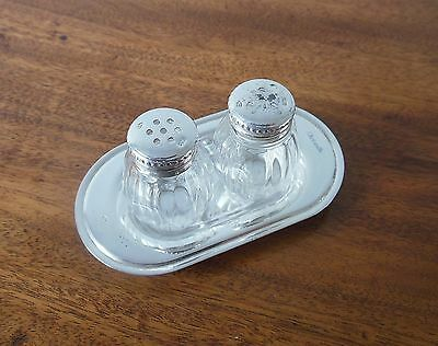 Silver Salt & Pepper on tray by Cristofle