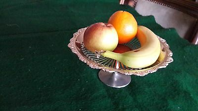 Silver Plated Fruit Tazza or Grape stand 9 cms ht