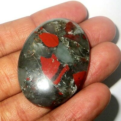 70Cts. Beautifully AAA Natural Bloodstone Cabochon Oval Gemstone 1216