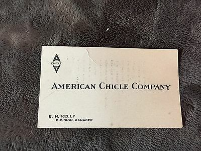 American Chicle Gum Business Card - Sen Sen And Kis-Me