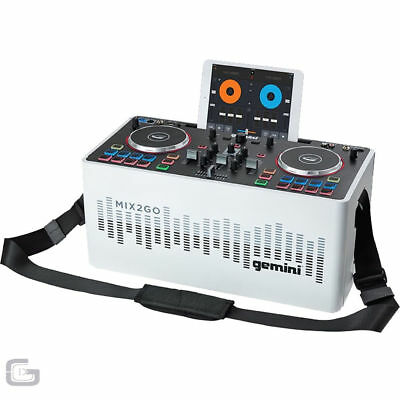 Gemini MIX2GO Portable Andriod iOS Party DJ Mixing Console Controller With LEDs
