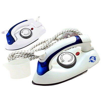 700W Portable Compact Easy Folding Steam Dry Non Stick Travel Iron Dual Voltage