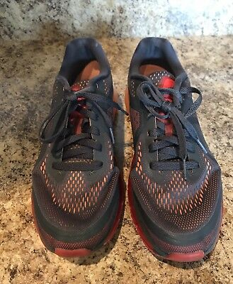Mens Nike Air Max 2014 Anthracite/Orange Running Shoes. Size 9.5