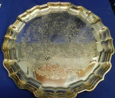 Vintage Reed & Barton #59 Floral Design Silverplate Serving Tray VT1216