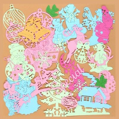 46 Types Christmas Card Decor Scrapbooking Cutting Dies Stencil Paper Embossing