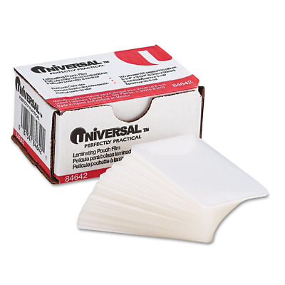 Clear Laminating Pouches, 5 mil, 2 1/4 X 3 3/4, Business Card Size 100/Box 84642