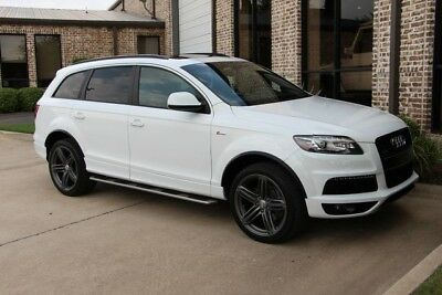 2014 Audi Q7 S Line Sport Utility 4-Door Carrera White S Line Interior Technology S Line Plus 21s Running Boards Warranty