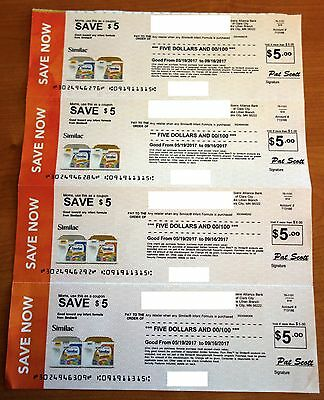 Similac Infant baby formula Coupons $20 Value Expires 9/16/2017