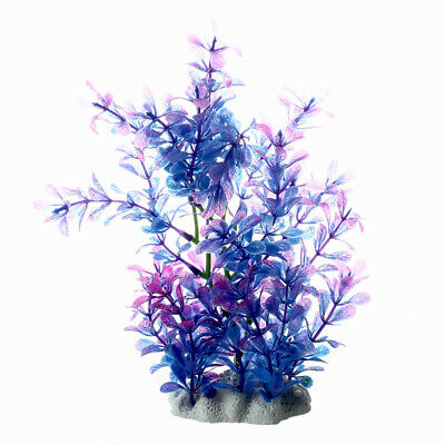 Purple Artificial Water Plants for Fish Tank Aquarium Decoration Ornament X9V9