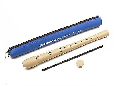 Angel Recorder - Soprano - Cream Coloured with Bag SHIPS FROM CANADA