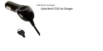 Casio ROCK C731 Gzone Vehicle 6FT CORD Power-Adapter Verizon CAR CHARGER new OEM