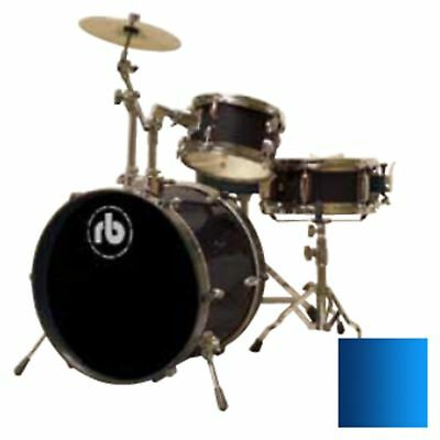 RB 3-Piece Junior Drum Kit with Cymbal, Hardware & Throne - Blue RB-JR3-MBL