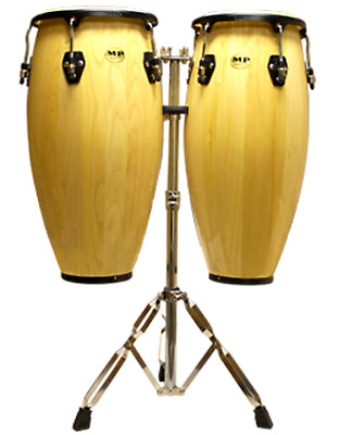 """MP 1601-NA(Pair With Stand)Natural 10""""&11"""" Congas"""