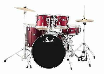 Pearl Roadshow RS525S 5-Piece Drumset w/ Hardware & Cymbals - Wine Red
