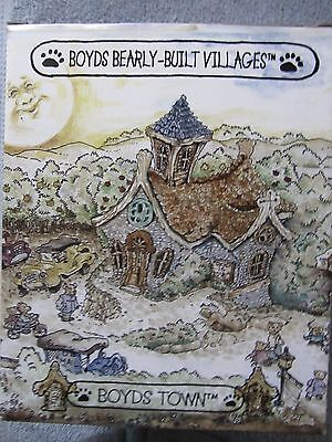 "BOYDS BEARLY-BUILT VILLAGE COLLECTION "" PUBLIC LIBEARLY""with CERTIFICATE"
