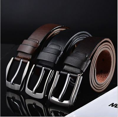 New Quality Leather Mens Belt Jeans Belt pin buckle
