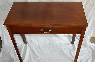 Small Victorian 1 Drawer Mahogany Side Hall Table