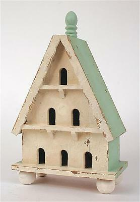 "Creative Co-op WOOD ""Martha's Vineyard Cottage"" BIRD HOUSE~INDOOR USE ONLY"