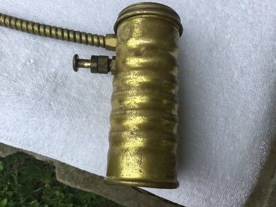 """Eagle Oil Can 5"""" tall Brass Cylinder Oiler USA Advertising"""