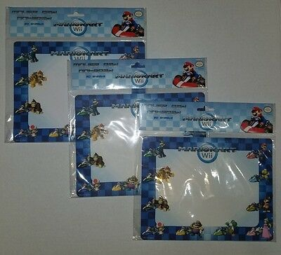 3 Count Mario Kart Wii Mouse Pad Notepad 20 Sheets New