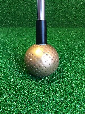 Extremely Rare Vintage Classic MATZIE Golden Golf Ball Putter Training Aid 35''