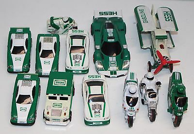 Hess Vehicle Lot of 12 Battery Operated Cars Planes Motorcycles Trucks Untested