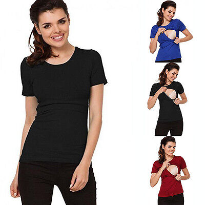 Fashion Maternity T-shirt Breastfeeding Clothes Tops Nursing Tops For Pregnant W