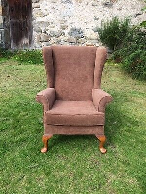 A Vintage Wing Back Armchair by Parker Knoll