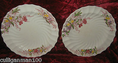 """1 - Lot of 2 - Spode 7 1/4"""" Fairy Dell Salad Plates (2017-200)"""