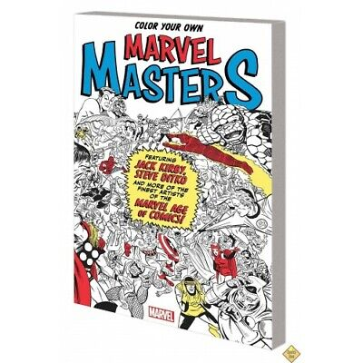 Color Your Own Marvel Masters Tp -  - Coloring Book