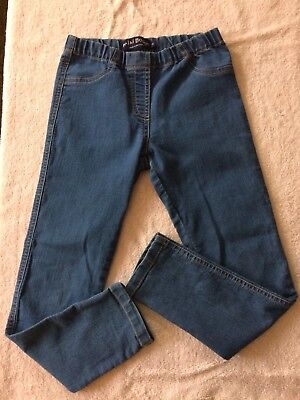 Mini Boden Girls Denim Jeggings Elastic Waist Size 8Y
