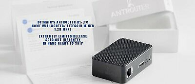 Bitmain AntRouter R1-LTC Litecoin Scrypt ASIC Miner L3+ Bitcoin R4 S9 Router Ant