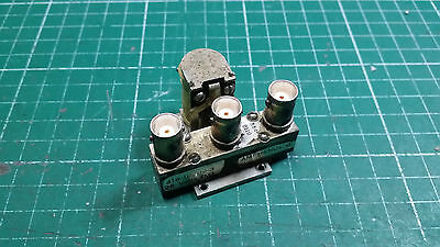Amphenol 318-10382-3 SPDT RF Coaxial Switch Relay - BNC Connector