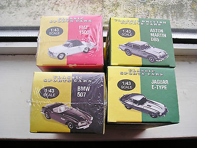 Atlas Classic Sports Cars Bundle  Job  Lot Of 4 1:43 Scale Bnibs