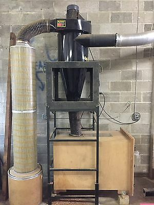 """Dust Collector CYCLONE 3.5HP 15"""" Impeller With Tempest S Series Motor Blower"""