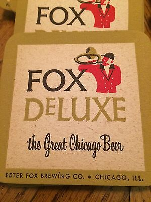 Fox DeLuxe, Great Chicago Beer, Lot Of 40 Coasters Vintage, Peter Fox Brewing