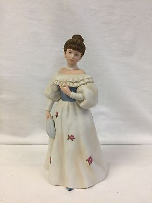 HOME INTERIORS VICTORIAN Belle of the Ball LADY w/ FEATHER #1463
