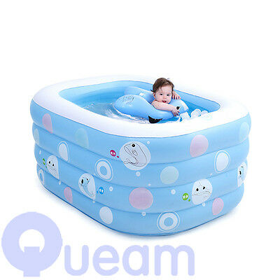 4 Rings Inflatable Baby Swimming Pool Portable Rectangle Standard Combination